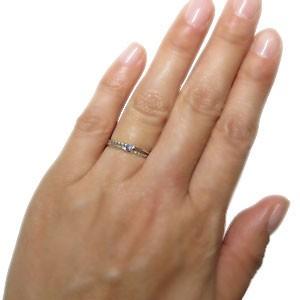 ピンキーリング  一粒 指輪 18金 タンザナイト リング xmas クリスマス