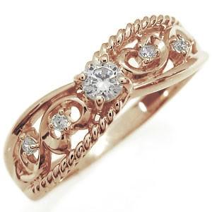 ダイヤモンド・リング・18金・アラベスク・唐草デザイン・リング・指輪 xmas クリスマス