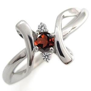 クロス リング ガーネット リング K18 指輪 xmas クリスマス