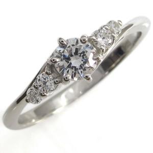【送料無料】鑑定書 エンゲージリング VVS ダイヤモンドリング 指輪