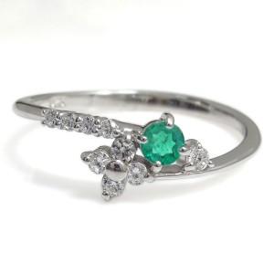 プラチナ エメラルド 指輪 メモリアルリング 結婚記念日 xmas クリスマス