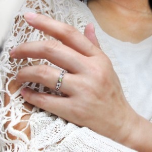 【送料無料】ダイヤモンドリング 唐草 指輪 アラベスク K18 リング
