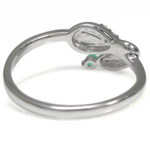 ピンキーリング エメラルド スネークリング K18 指輪 xmas クリスマス