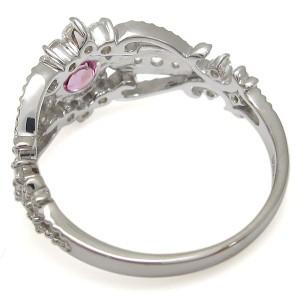 【送料無料】ピンクトルマリンリング アンティーク調 リング ミル打ち 10金 指輪