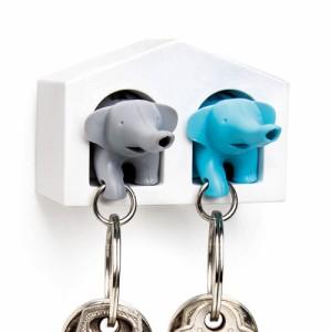 【14時迄のご注文は当日発送】 クオリー デュオ エレファントキーリング ペアセット Qualy DUO Elephant Key Ring
