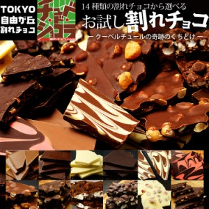 【お試し割れチョコ】東京・自由が丘チュベ・ド・ショコラの14種類から選べる割れ チョコレート  ポイント消化