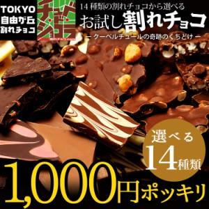 1000円ポッキリ【お試し割れチョコ】 東京・自由が丘チュベ・ド・ショコラの14種類から選べる割れ チョコレート 送料無料 ポイント消
