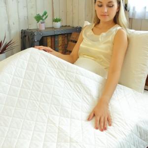 安心の日本製!脱脂綿とガーゼで作る究極の寝具  パシーマキルトケット ジュニアサイズ オールシーズン やさしい 長持ち