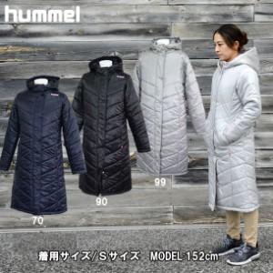 ピットスポーツ限定 レディース パデッドロングコート【hummel】 ヒュンメル × ピットスポーツ 中綿 ベンチコート (HLW8081KM)