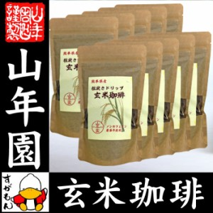【国産 無農薬 100%】玄米珈琲 200g×10袋セット ノンカフェイン  熊本県産 送料無料 玄米コーヒー ドリップコーヒー 母乳 赤ちゃん 送料