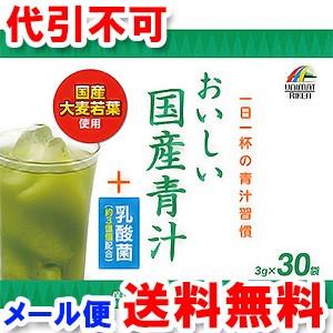 おいしい国産青汁+乳酸菌90g (3g×30袋) ゆうメール選択で送料無料