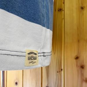ヒューストン 半袖Tシャツ インディゴボーダーポケット付 HOUSTON INDIGO BORDER POCKET TEE/ネコポス・レターパック発送可能!