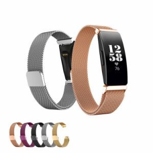 1c24c6639e46 Fitbit Inspire / Fitbit Inspire HR用 交換バンド 高級ステンレスベルト交換リストバンド メタル
