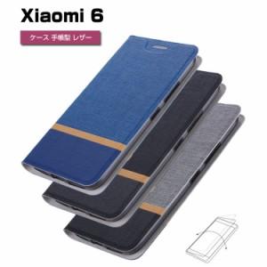 小米 Xiaomi 6 バー 手帳 2つ折り レザー