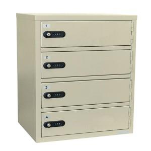 【送料無料】貴重品保管庫 ロッカー 1列4段 4人用[LK-308-4]-エーコー