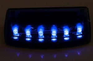 盗難 イタズラから愛車を守る青色LED ダミー セキュリティライト カーセキュリティー
