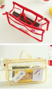 708f547730 透明 バッグインバッグ   クリア 整理整頓 小分け 収納 鞄 小物収納の ...