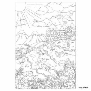 メール便okショウワノート 塗り絵セレクション ポケモン B5サイズ