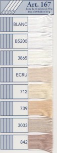DMCセベリアレース糸 #10 50g Art167基本色  サマーヤーン : 【KY】