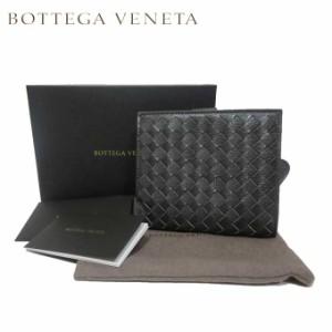 3cc433a0ec44 ボッテガヴェネタ BOTTEGA VENETA 132355-VCKT1-2015 イントレチャート レザー 両開き財布 ダークグレー系