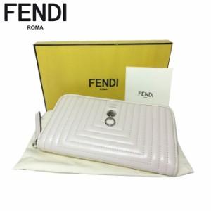dced5bf9e56a フェンディ アウトレット FENDI 財布 8M0299-18F-F0MU3 レザー ラウンドファスナー 長財布 オフホワイト