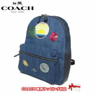 75309ec87569 コーチ アウトレット COACH ショルダーバッグ F28958 デニム キャンバス ハワイアン / ハワイ パッチワーク チャーリ バックパック
