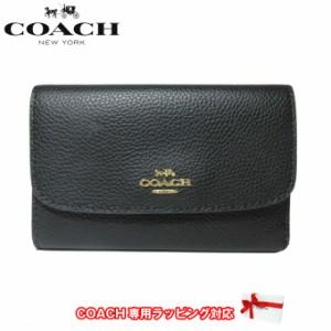 1fb379e0eb60 コーチ アウトレット COACH 財布 F30204 ペブルド レザー ミディアム エンベロープ ウォレット / 三つ折り財布 IMBLK(