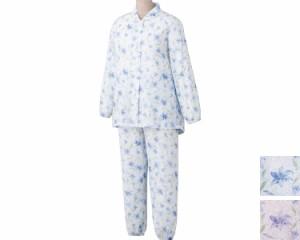 大きめボタン楊柳パジャマ 98083 ケアファッション