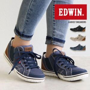 エドウィン EDWIN スニーカー レディース 軽量 黒 サイドゴア スニーカー 履きやすい 歩きやすい 疲れにくい 痛くない 軽い 通勤 通学 ス