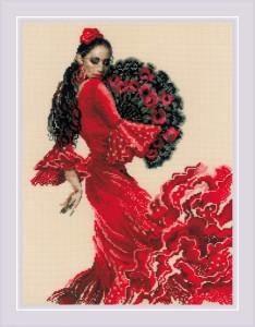 RIOLISクロスステッチ刺繍キット No.1740 「Dancer」 (ダンサー 踊り子) 【取り寄せ/納期30〜60日程度】