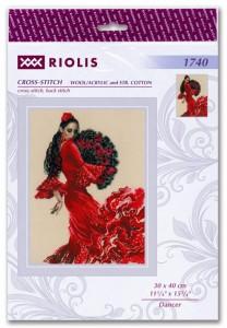 RIOLISクロスステッチ刺繍キット No.1740 「Dancer」 (ダンサー 踊り子) 【海外取り寄せ/納期30〜60日程度】