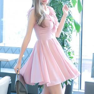 ドレス お呼ばれ 二次会 ワンピース 結婚式 パーティードレス かわいい フォーマル 披露宴 1170