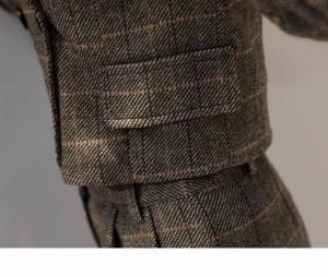 トレンド☆グレンチェック パンツスーツ Vネック ジャケット&パンツ セットアップ