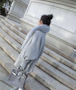 通勤◎/きれいめカジュアル フォックス 毛皮コート フェイクファーコート