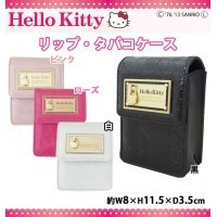 HelloKitty ハローキティ エナメルキルティング素材 リップケース タバコケース HK26-5