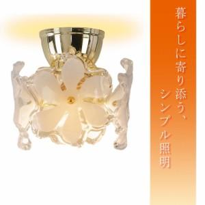 簡単取付!シンプル照明 シーリングライト フラワー 1灯 GEM-6916