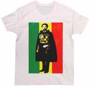 Tシャツ エチオピア皇帝 ハイレセラシエ ラスタカラーデザイン Tee tシャツ メンズ レディース 半袖 ロックtシャツ バンドtシャツ おも