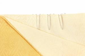 【加藤萬・両面重ね衿】本紋/玉子×クリームみふじ 加藤萬謹製 リバーシブル 重ね襟 女性用 広衿 着物 伊達衿 和