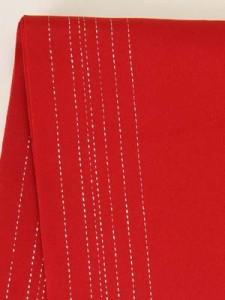 送料無料 浴衣帯 (赤・銀糸) ゆかた 袴 はかま 夏祭り 花火 卒業式 メール便1本までOK