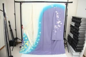 送料無料 訳あり店舗キャリー在庫 正絹 振袖(八掛付) 仮絵羽 ハギレ はぎれ 仕立ての練習用に最適 舞台衣装としても使えます。