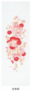 有職【有職和装小物 刺繍半衿】「有職 YU-SOKU」掲載 梅に小菊柄 和装小物 襦袢用 半衿 女性 レディース