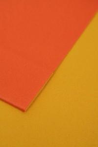 京都・西陣日本製シンプル2色浴衣帯作り帯結び帯黄×オレンジ付帯レディース女性用