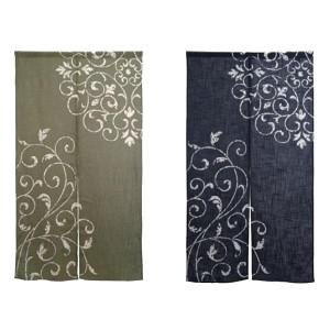 川島織物セルコン Morris Design Studio(モリスデザインスタジオ) 二重唐草 のれん 85×150cm EL1005 送料無料 後払い可