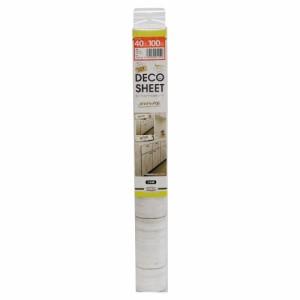 【送料無料】DECO SHEET 貼ってはがせる装飾シート 40cm×100cm ホワイトウッド柄 DEC-07 IV・アイボリー
