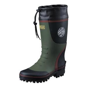 ead79f5fe3ec46 福山ゴム 林業・磯釣りに最適なスパイク付長靴 スパイクジョイ3 カーキ