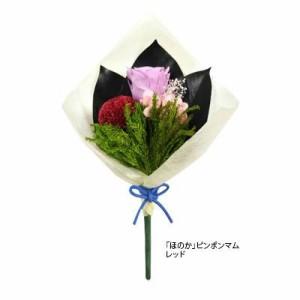 プリザーブドフラワー(仏花) ほのか ピンポンマム レッド C20310