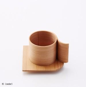 YOnoBI 木製カップ&ソーサー【α 2】