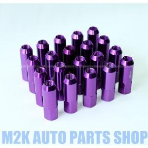 速達同等 国産車 普通車 全般 対応 JDM USDM ナット 20本 P1.5 P1.25 19HEX  60mm アルミ M12 貫通 プリウス クラウン カローラ ステップ