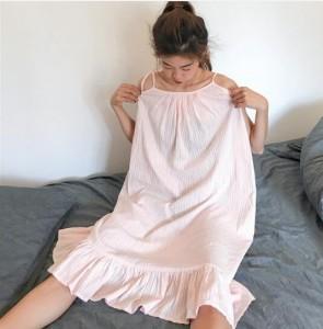 パジャマ  ナイトウエア ルームウエア寝間着レディース 女性パジャマ 淑やか 部屋着 ネグリジェ 姫系 キャミワンピ 可愛いフレアワンピ