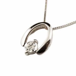 【送料無料】馬蹄 ネックレス ダイヤモンド ホースシュー ペンダント プラチナ シンプル レデ